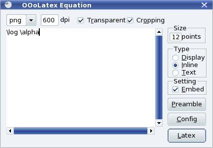 """Pracovné okno funkcie """"Equation"""""""