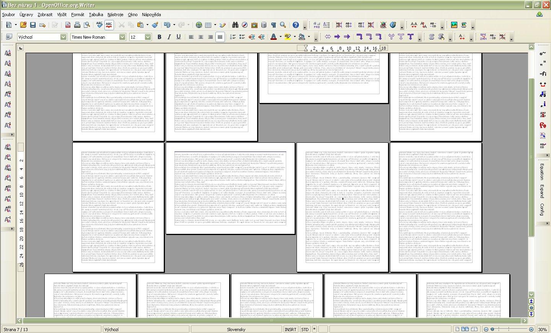 Ukážka dokumentu so zmenenou orientáciou niektorých strán