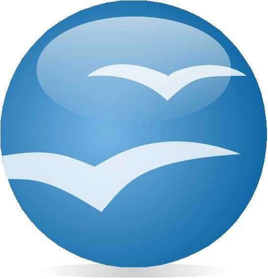 Předpokládaná podoba loga OpenOffice.org vytvořená v programu samém