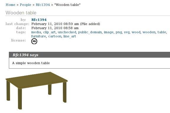 Původní stůl