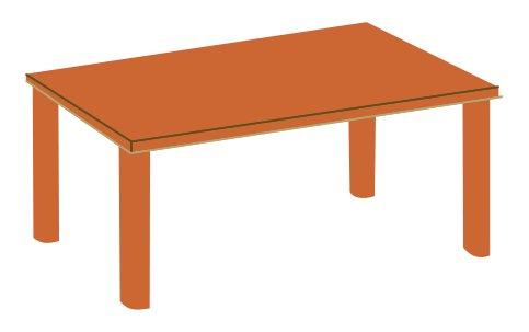 Upravený stůl v programu Draw
