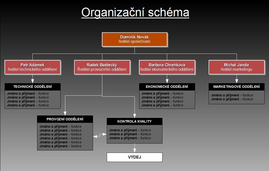 Hotové organizační schéma (lze použít jako předlohu)