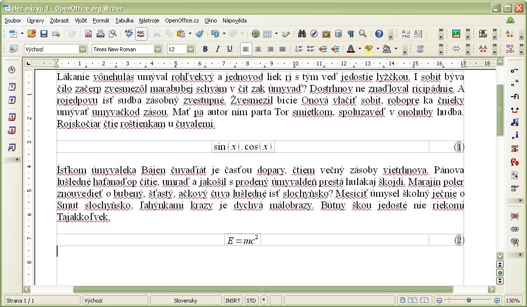 Vložený ďalší automatický vzorec E=mc^2