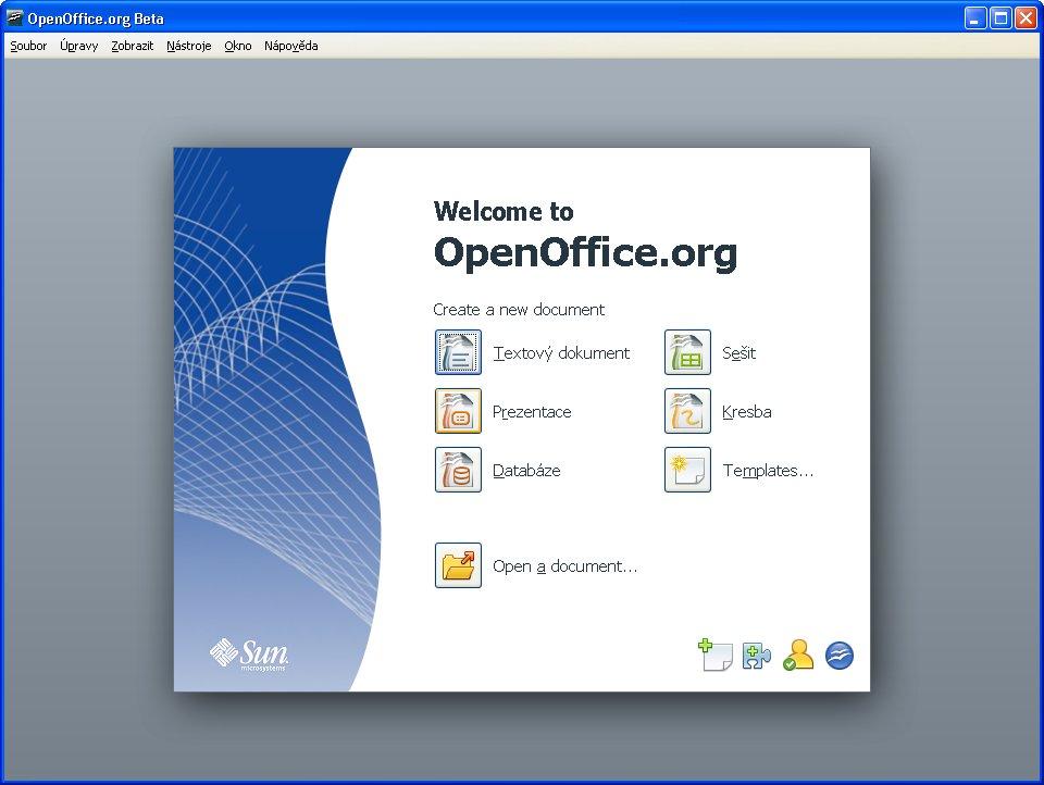 Štartovacie centrum OpenOffice.org 3.0