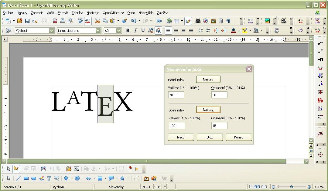 """Ukážka sádzania """"LaTeX"""""""