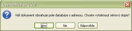 Oznam a otázka OpenOffice.org k hromadnej tlači