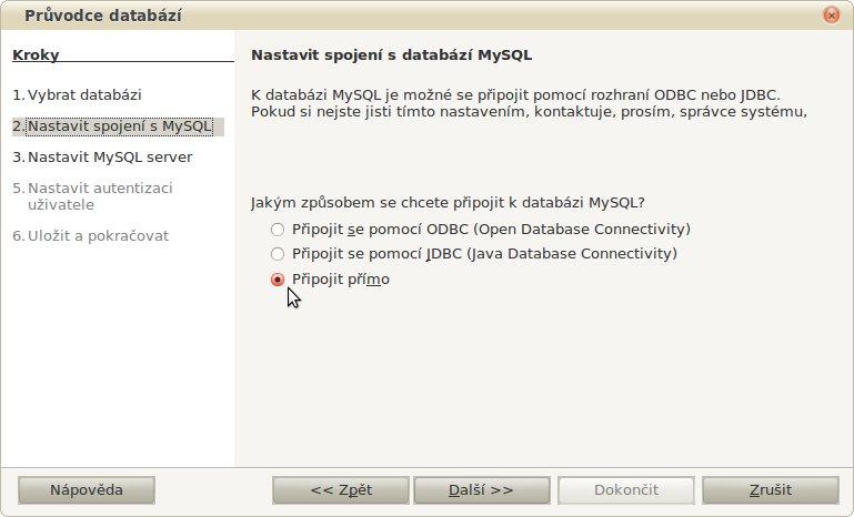 Vybíráme nativní rozhraní mezi Base a MySQL