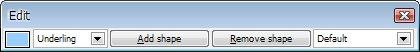 Lišta Edit umožňuje provádět rozsáhlé úpravy diagramů
