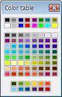 Paleta barev pro výběr výplně následujícího členu