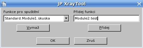 """Pridanie funkcie z knižnice """"Standard"""", modulu """"Module2"""""""