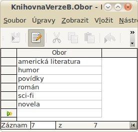 "Vazby mezi tabulkami databáze Knihovna verze ""A"""
