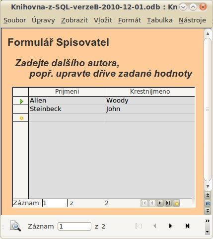 Návrh konečné podoby formuláře