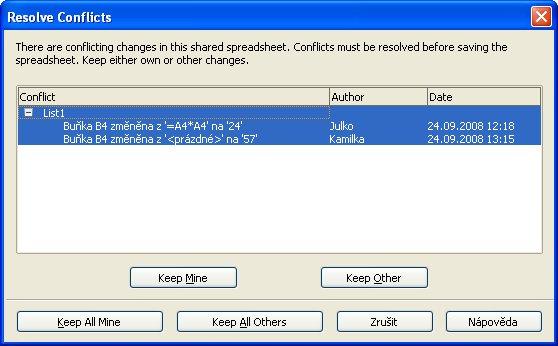 Potvrdzovanie zmien po ukončení práce iného používateľa