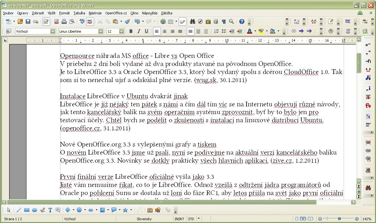Súbor po vymazaní HTML značiek