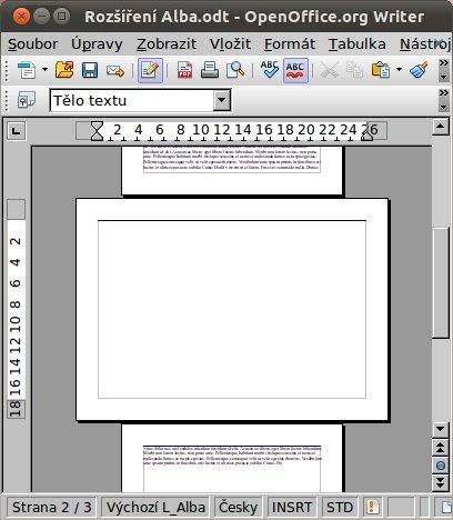 """Vlož jednu stránku na šířku uvnitř dokumentu: """"One landscape page inside the document"""""""