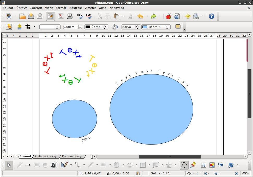 Výsledek písmomalby a upravení bodů