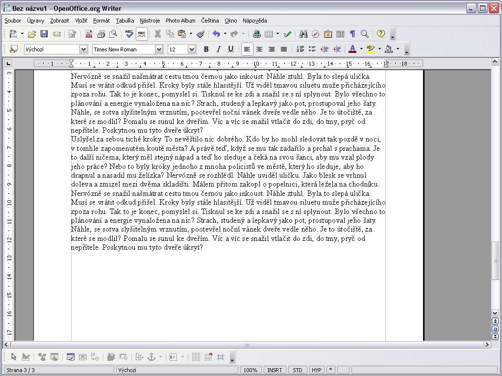 Vycpávkový text, konec třetí strany