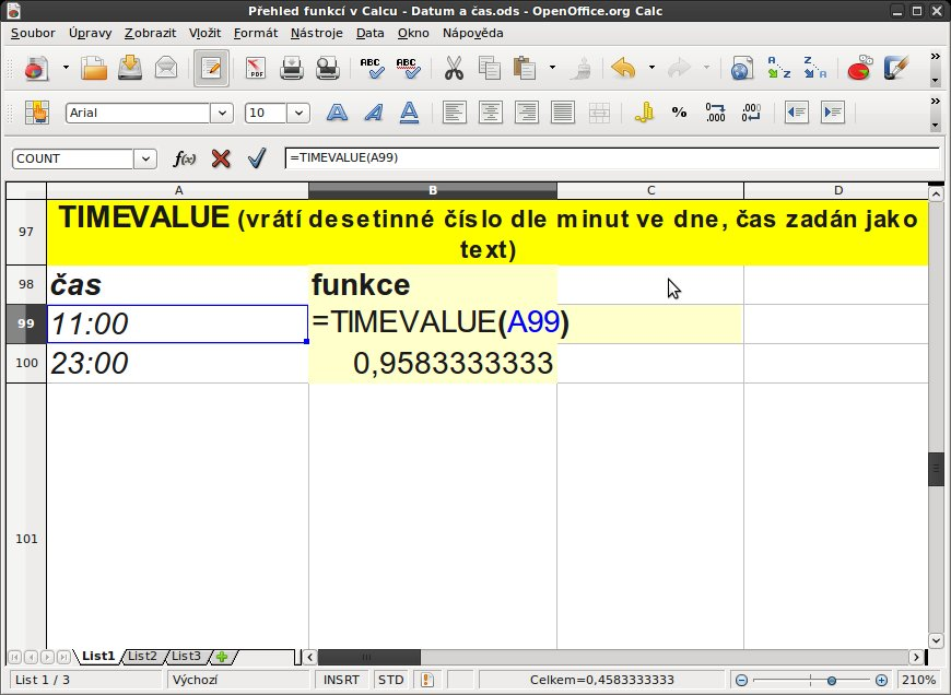 TIMEVALUE