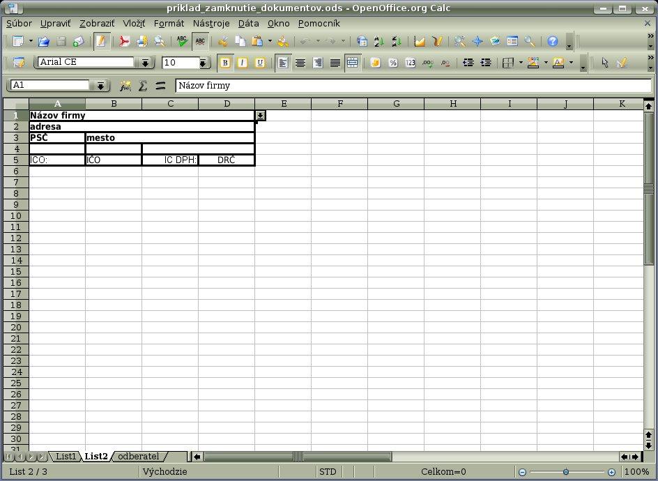 Tabuľka s príkladu 2