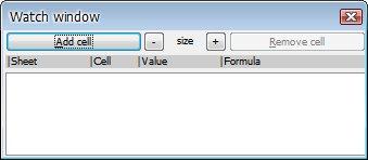 Okno (zatím prázdné) pluginu Watch Window