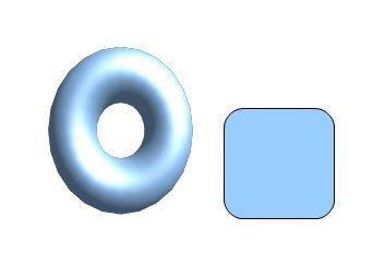 Dva objekty, u kterých chceme vyrovnat výšku/šířku.