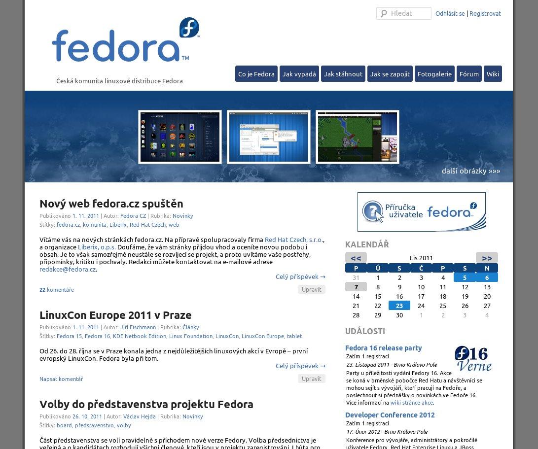 Web fedora.cz