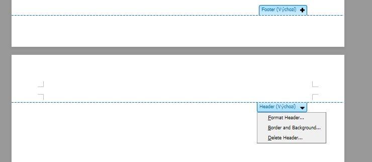 Nová podoba záhlaví/zápatí a možnost přímého formátování určitě potěší všechny uživatele