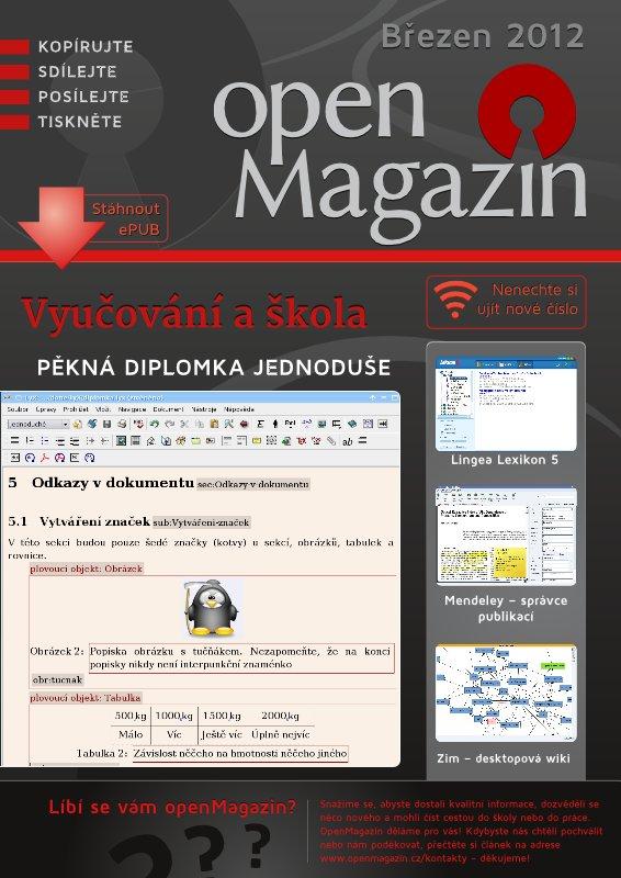 Kliknutím na obrázek stáhnete openMagazin 03/2012