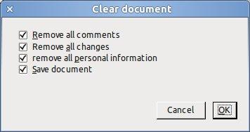 Zajímavou možností je odstraňování atributů souvisejících s redakčními úpravami dokumentu