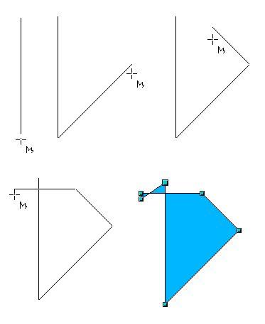 Kreslíme mnohouholník so stranami 45°