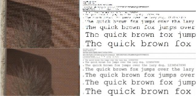 Příklad Lanczos algoritmu (zdroj obrázku The Document Foundation Wiki)