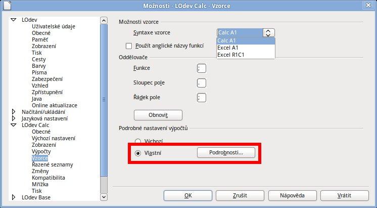 Dotyčné dialogové okno spustíte po klepnutí na tlačítko Podrobnosti
