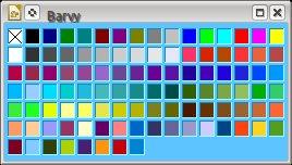 Výchozí paleta barev v LibreOffice nedisponuje příliš velkým počtem barevných odstínů