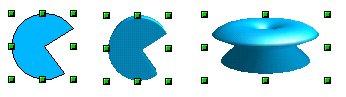 Prevádzame eliptický výsek na 3D objekt a na kruhový objekt