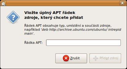 Vložte adresu zdroje softwaru