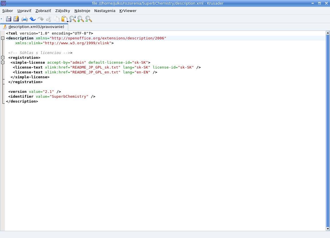 Vytvorenie súboru description.xml