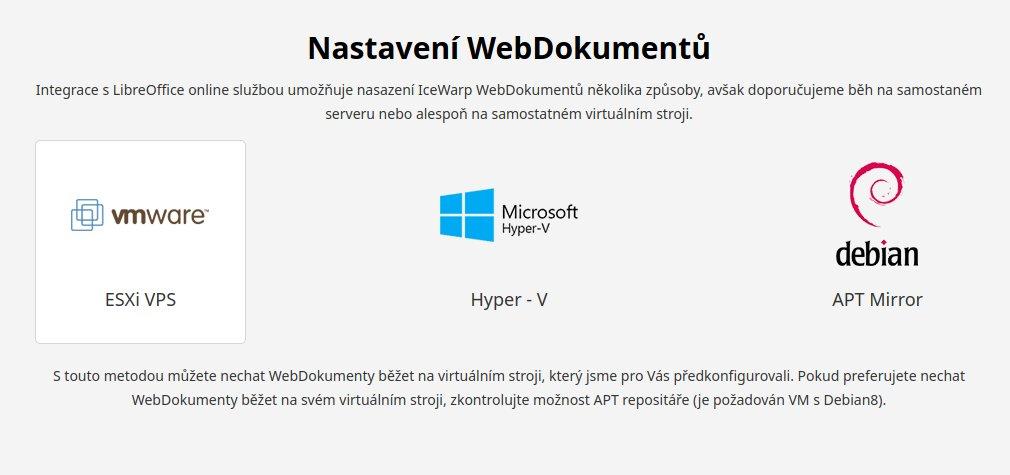 IceWarp doporučuje LibreOffice Online