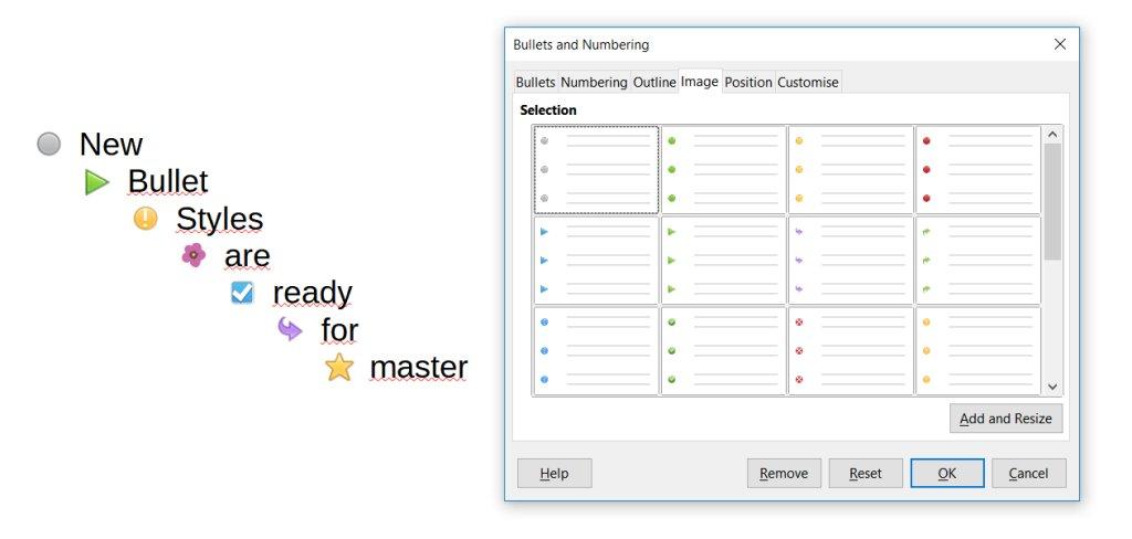 Nové odrážky v LibreOffice 7 (colibreoffice.wordpress.com)