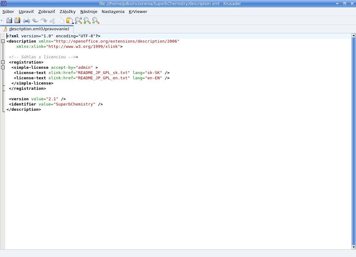 Alternatívna verzia súboru description.xml