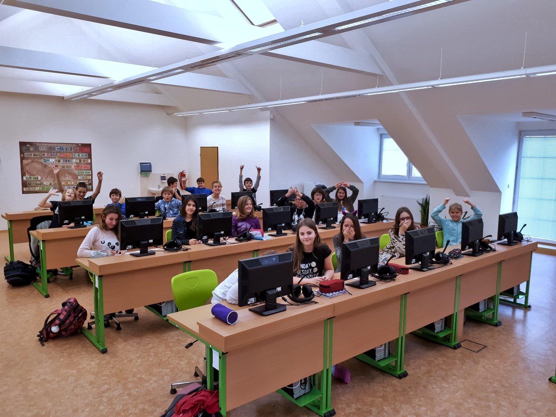Pohled do učebny IVT (ZŠ Loučná nad Desnou)