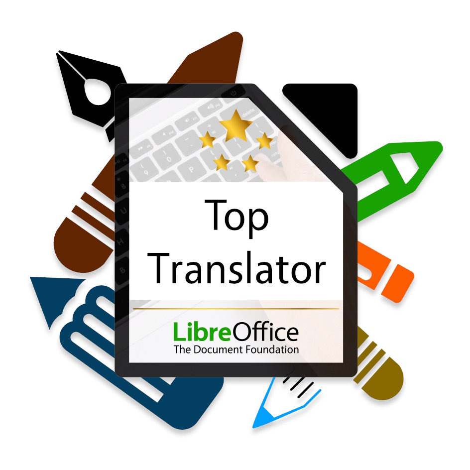 Logo akce Open Badges for LibreOffice contributors