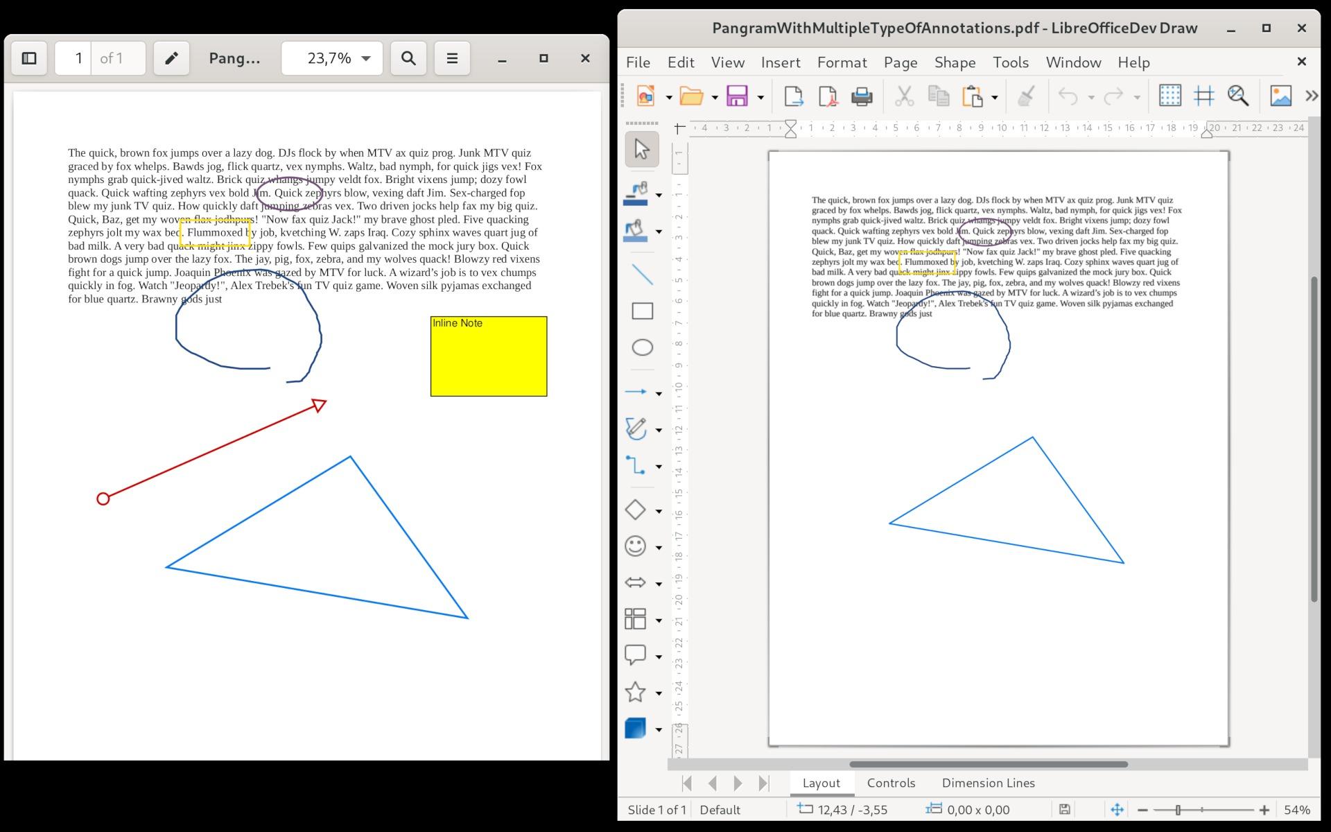 Druhá fáze implementace podpory PDF poznámek - geometrické tvary