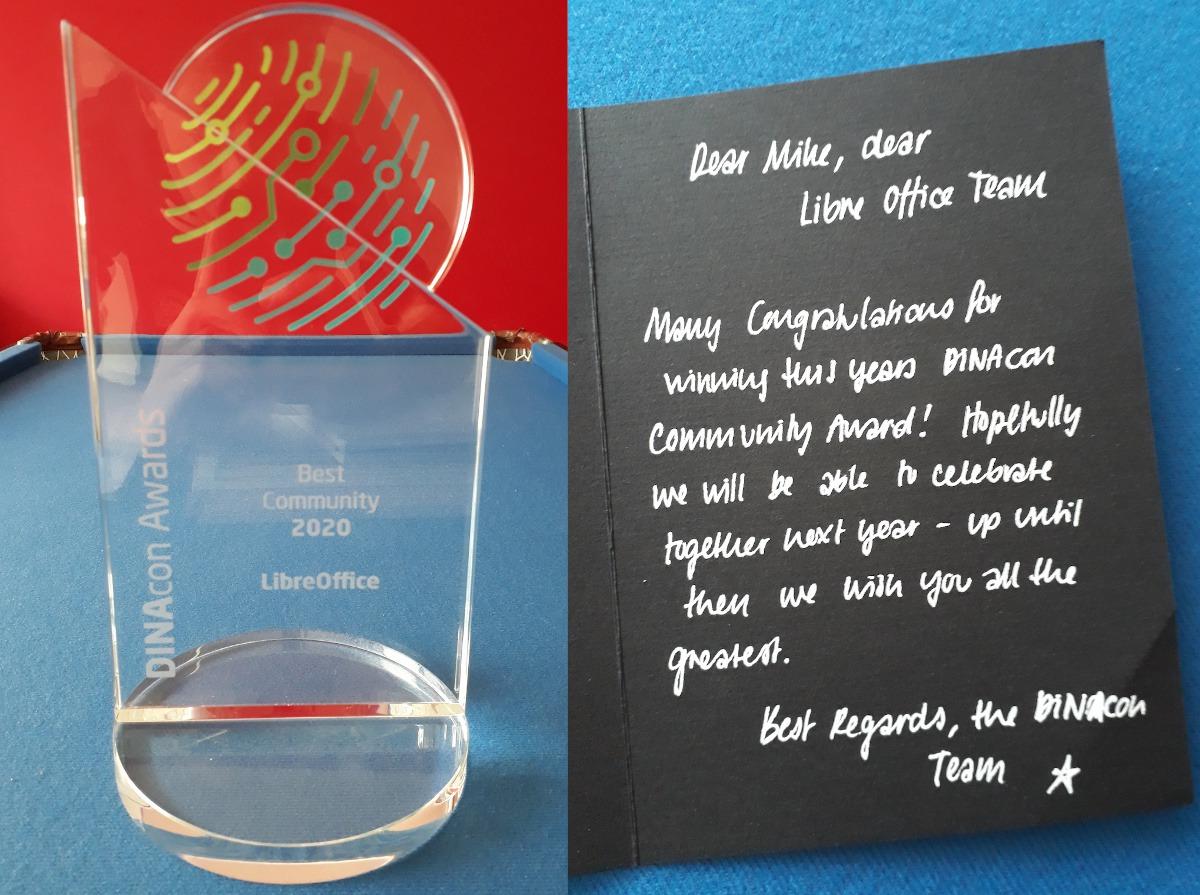 Ocenění pro komunitu LibreOffice