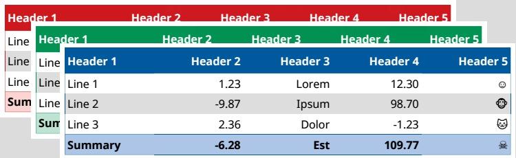 Styly tabulek OOXML formátu