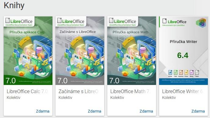 Příručky LibreOffice na Google Play