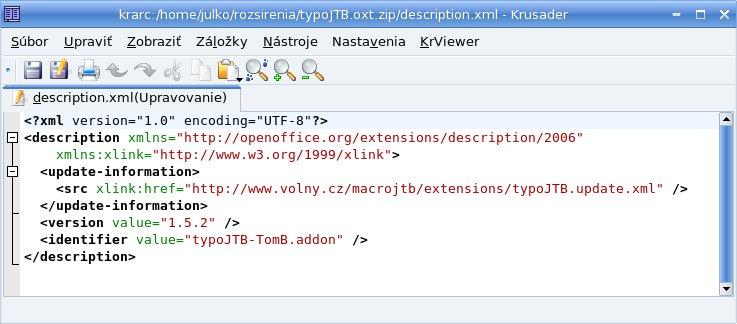 """Odkaz na údaje o novej verzii v rozšírení """"typoJTB"""""""