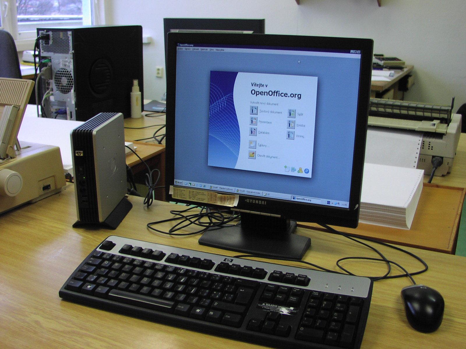 TOS ZNojmo - Tenký klient HP T5530 s OpenOffice.org