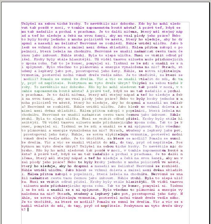 Textové efekty - mihotavé barvy, kresba v textu