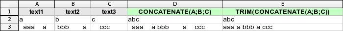 Vyčištění nadbytečných mezer po spojení textů