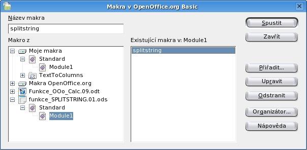 Správce maker pro OpenOffice.org Basic